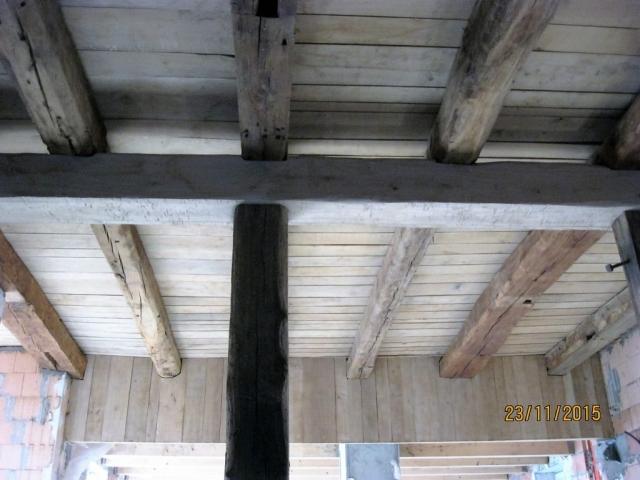 Holzdecke vorher